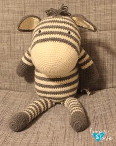 Walter Zebra Crochet Kit by Wool Couture | 300x240