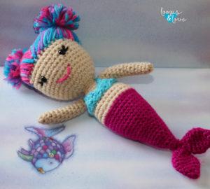 Red Heart Mermaid Amigurumi : crochet | 270x300