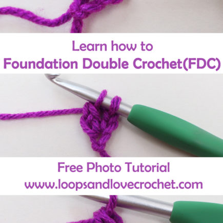 Photo Tutorial: Foundation Double Crochet