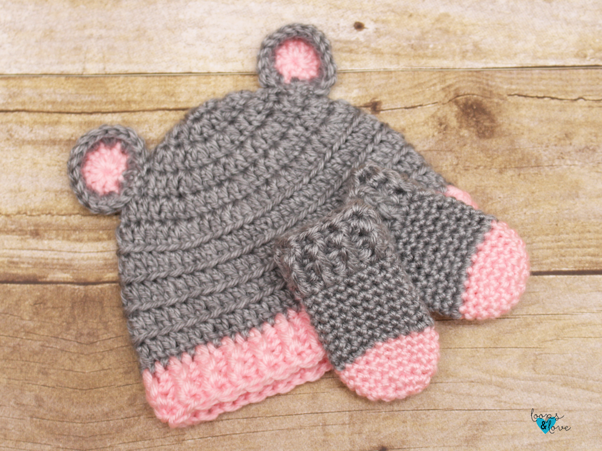 Crochet Baby Bear Set