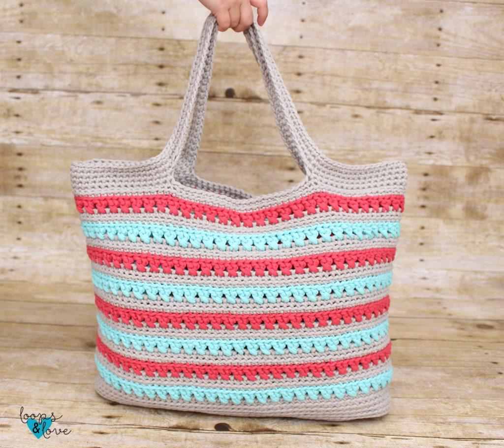 Easy Market Tote Free Crochet Pattern Loops Love Crochet