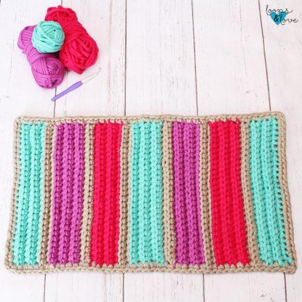 Easy Crochet Bath Mat