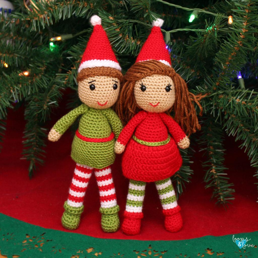 Ravelry: Amigurumi Christmas Elf Doll pattern by Crochet Cute Dolls   1024x1024