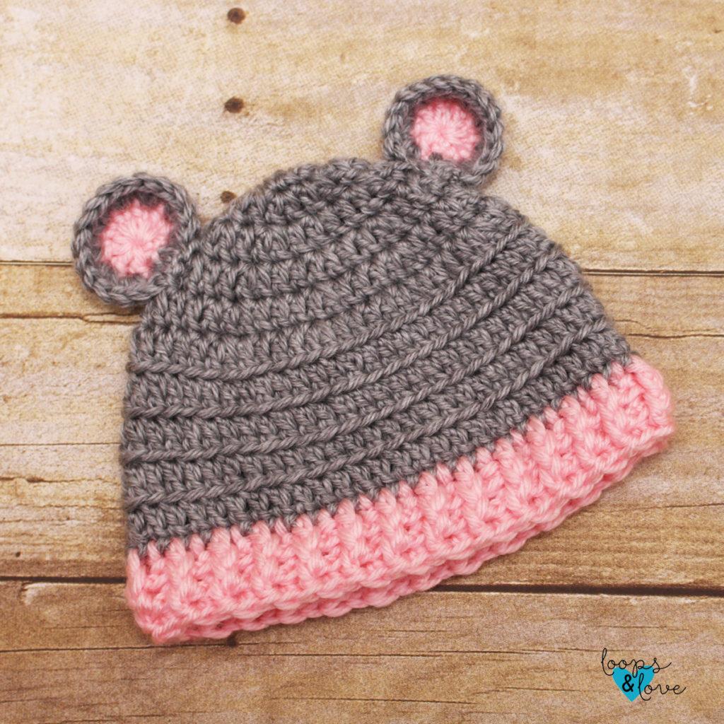 Crochet Child bear hat /& mitten set PATTERN ONLY
