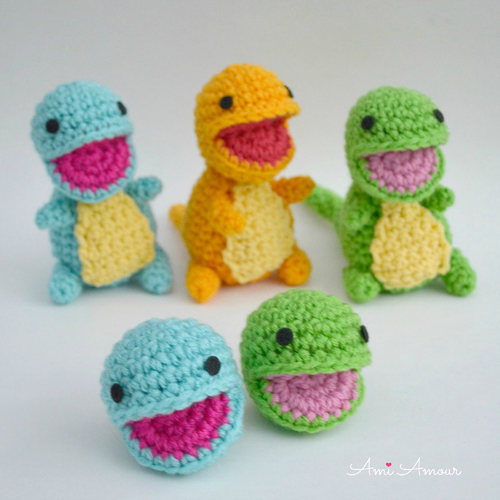 How to crochet open mouth amigurumi
