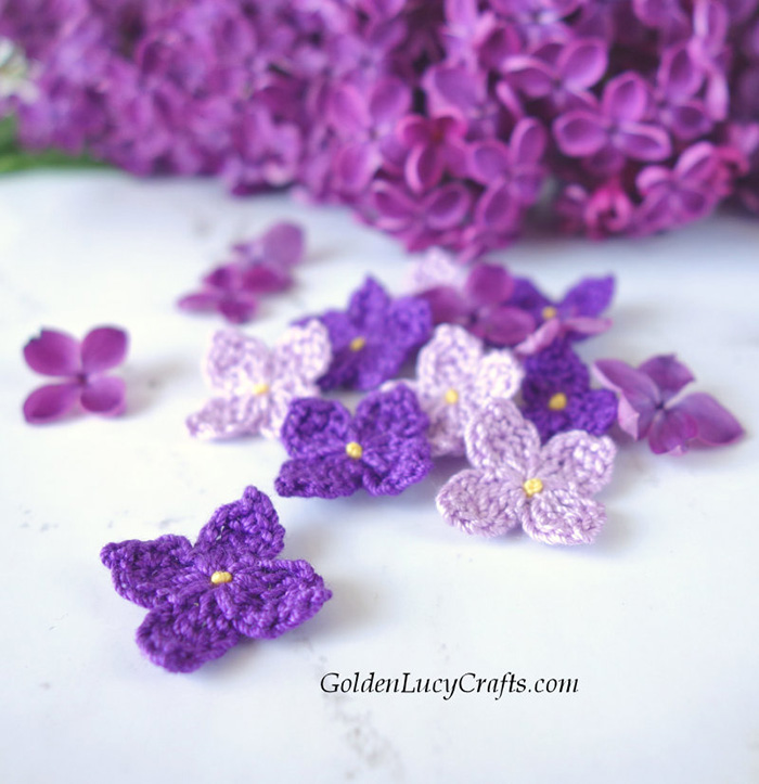 Crochet Lilac Flowers