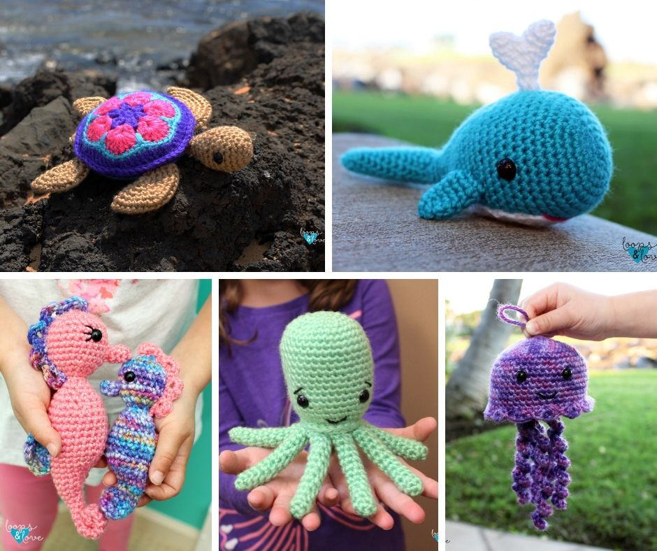 Amigurumi Crochet Sea Creature Animal Toy Free Patterns | Crochet ... | 788x940