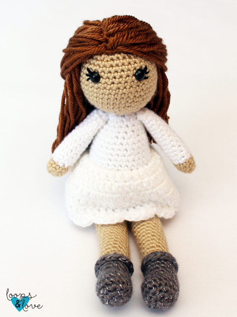 Hair Tutorial with Wig Cap for Crochet Doll BELLA with Step by ... | 1024x768