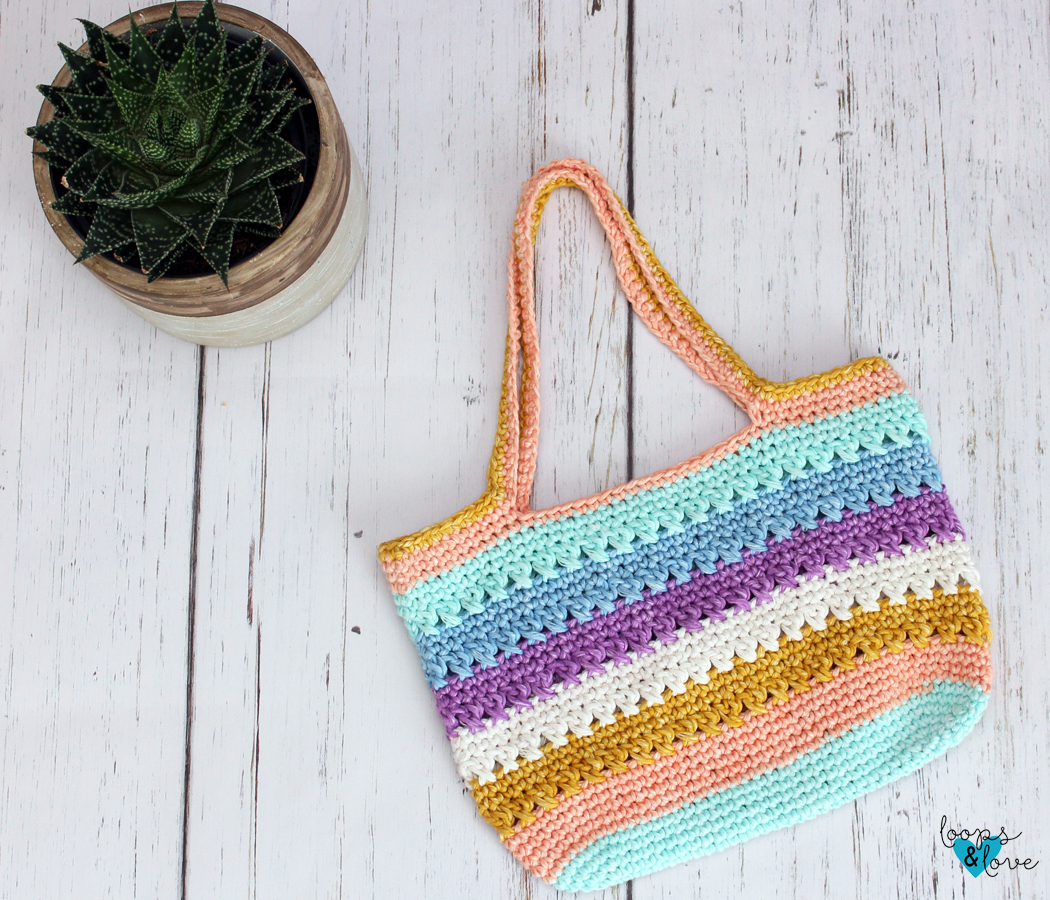 Crocheted Criss-Cross Tote