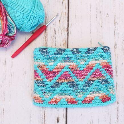 Chevron Stripes Crochet Bag
