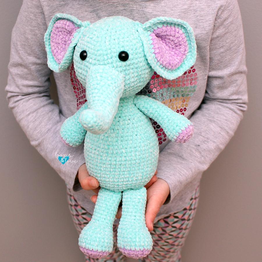 Elephant Amigurumi Free Crochet Pattern Loops Love Crochet