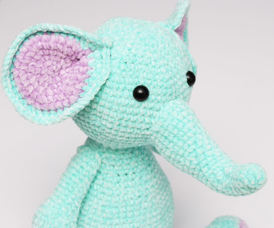 elephant with trunk and ears